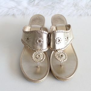 Jack Rogers Metallic Gold Espadrille Sandals